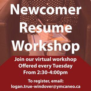 Newcomer Resume Workshop Graphic
