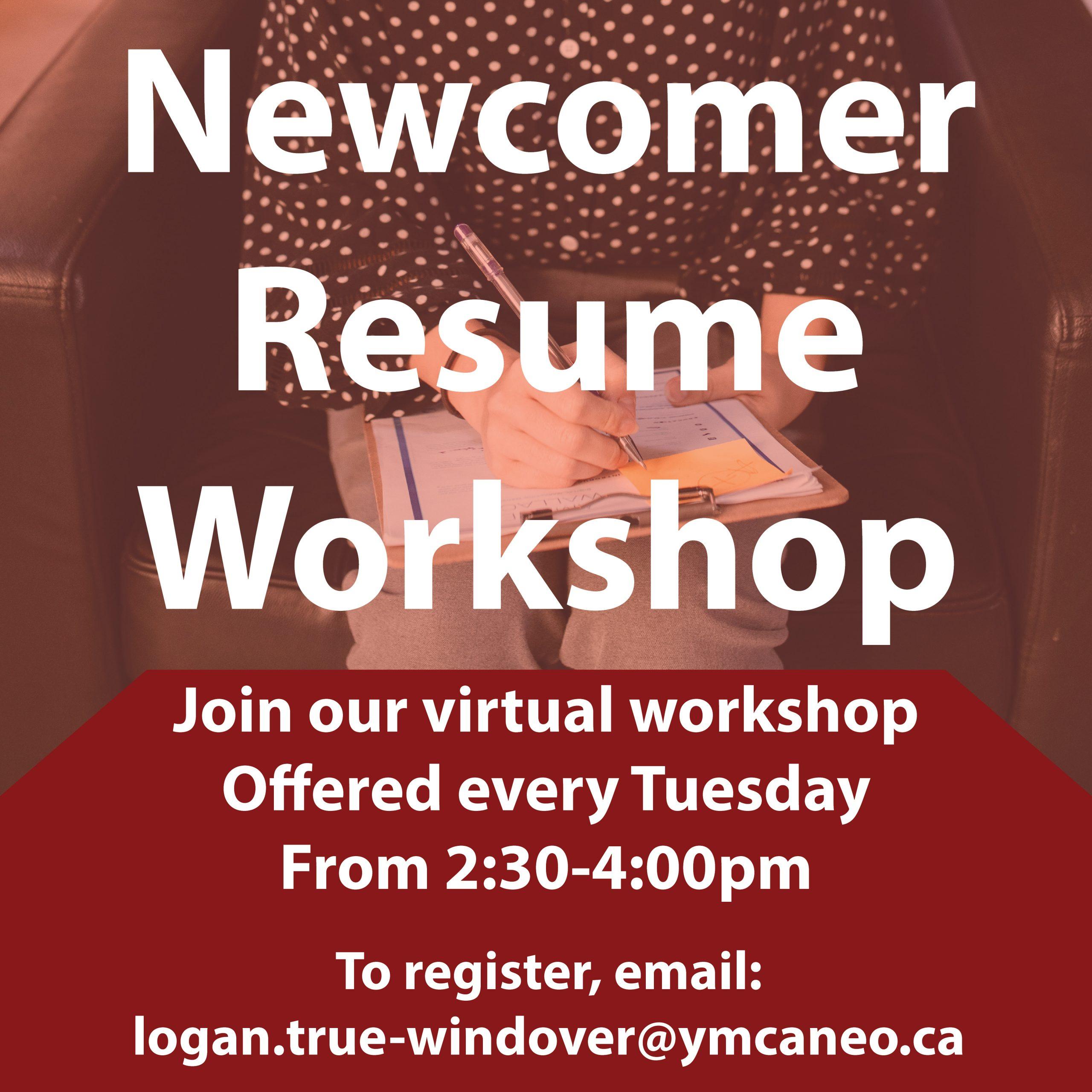 Newcomer Resume Workshop