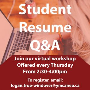 Student Resume Q&A Event Graphic