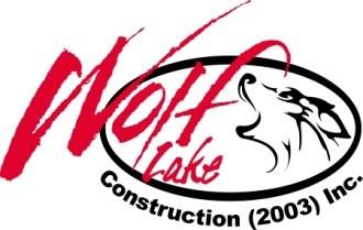 Wolf Lake Construction Logo